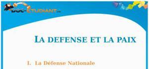 La défense et la paix : Cours d'ECJS de Collège