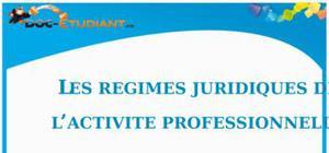 Les Régimes Juridiques de l'Activité Professionnelle : Cours de Droit BTS