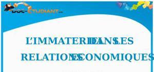 L'Immatériel dans les Relations Economiques : Cours de Droit BTS