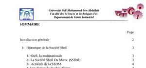 Flux d'informations et gestion de stock à la société shell maroc (s.s.d.m)