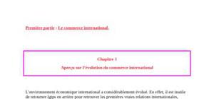 Economie internantional