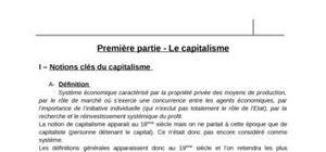 Economie capitalisme