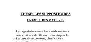 Les suppositoires comme forme médicamenteuse, caractéristiques, classification et leurs impératifs.les bases des suppositoires, classification et caractéristiques.technologie de fabrication.