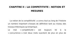 La competitiite : notion et mesures