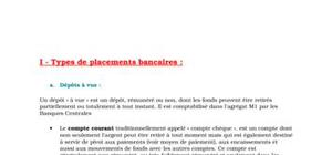 Types de placements bancaires