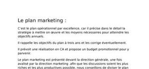 Le plan marketing dans l'industerie phramaceutique