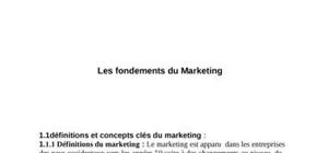 Les fondements du marketing