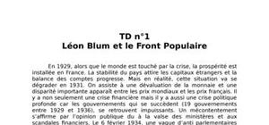 Léon blum et le front populaire durant la seconde guerre mondiale