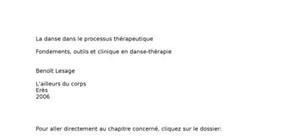 La danse thérapeutique
