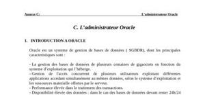 L'administrateur oracle