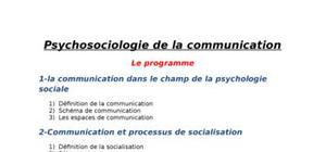 Psychosociologie de la communication