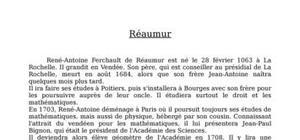 Biographie de réaumur