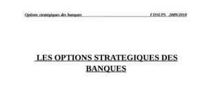 les options strategiques des banques