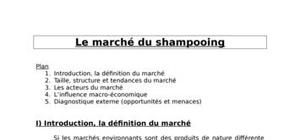 Le marché du shampooing