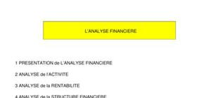 L'analyse financiere