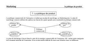 7. la politique de produit
