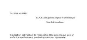 L'adoption en droit français et tunisien
