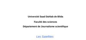 Les satellites et leurs applications