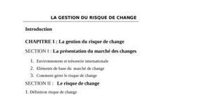 La gestion du risque de change