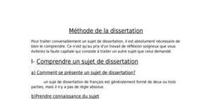 Métode de la dissertation de français