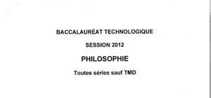 Sujet Bac STG Philosophie Pondichéry 2012