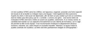 Lettre de Motivation KPMG