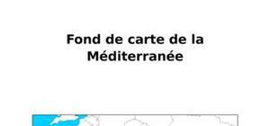 Fond de carte de la Méditerranée