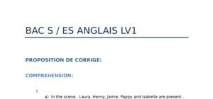 Corrigé Bac  Anglais 2012 : Bac 2012 ES
