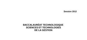 Sujet Management des organisations Bac STG 2012