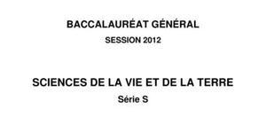 Sujet de SVT Bac S 2012