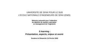 E-learning : présentation, aspects, enjeux et avenir