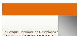 Rapport de stage bp maroc
