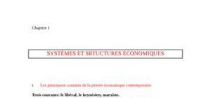 SystÈmes et srtuctures economiques