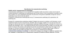Introduction à la communication marketing quelles sont les communications de marketing?
