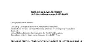 Theorie du developpement