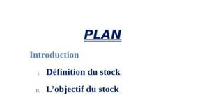 La gestion de stocks: types de stocks