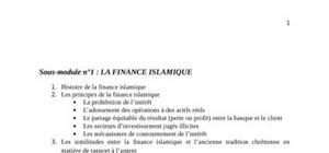 Finance islamique au senegal