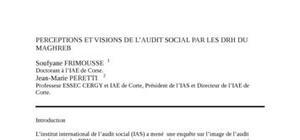 Perceptions et visions de l'audit social par les drh du maghreb