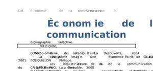 Économie de la comunication
