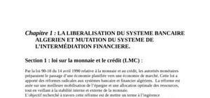 Economie bancaire en algérie