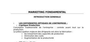 Marketing fondamentale