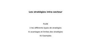 Les stratégies intra-secteur