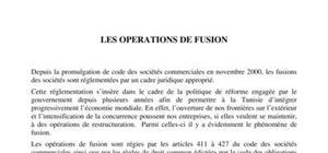 Les opérations de fusions
