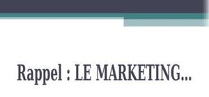 Le marketing c'est quoi ?