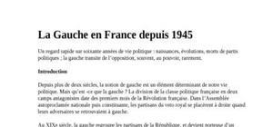 La gauche en france depuis 1945