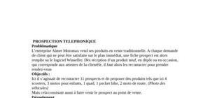 Prospection telephonique