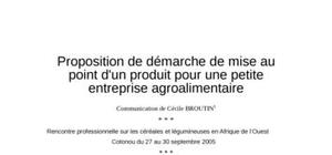 Petite entreprise agroalimentaire