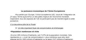 La puissance économique de l'union européenne