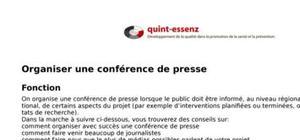 Organiser une conférence de presse
