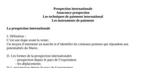 Prospection internationale assurance prospection les techniques de paiement international les instruments de paiement